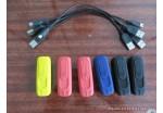 Зажигалка электронная, заряжается через USB (черная/красная, работает в любую погоду + USB шнур)