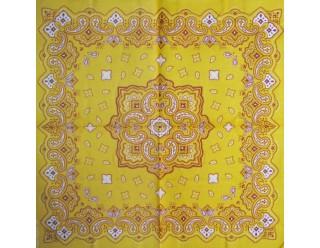 Маска-платок (с желто-красным орнаментом 840123) ) на пол-лица + закрывает шею - стильная