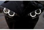 Ангельские глазки  120 мм белые мото (ССFL шнур, 2 кольца на фары, эффект аналог AUDI, VolksWagen)