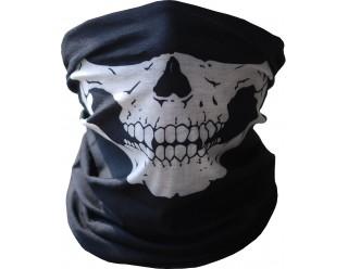 Подшлемник (открыта только область для глаз, черного цвета с темно-серой имитацией черепа 890004)