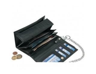 Бумажник байкера, с цепью, большой REGULAR, натуральная кожа