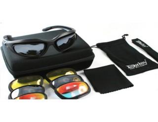 Очки DAISY BKT-8107 СПОРТ (в наборе - сменные линзы (4 цвета), чехол, коробочка модная, лямка)