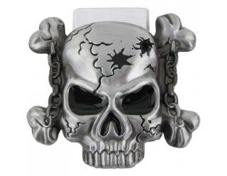 Пряжка для ремня в форме черепа с костями