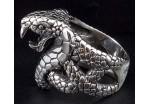 Перстень байкерский (R190GT) КОБРА, размеры 10,11,12