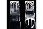 Ремень кожанный, стиль байкер, HIGHWAY 1 Coupling (с быстрой застежкой), 120 см., черный