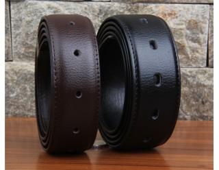 Ремень кожанный, стиль байкер, без пряжки (к нему надо купить пряжку), 120 см, черный