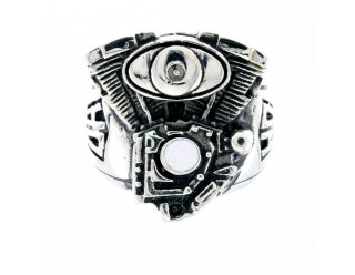 Перстень байкерский V-TWIN (V-образный двигатель, крутой), 20 мм, Германия
