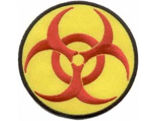 Нашивка Biohazard (биологическая опасность) 05361115 НАКЛЕИВАЕТСЯ УТЮГОМ