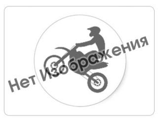 Брелок Модель мототехники (КС012), ПВХ, спортбайк светло-синий