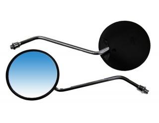 Зеркала (072) d10 пласт.(круглое, черные, поворотник)