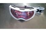 Очки DEX YH-59 (незапотевающие эластичные очки, с белой резинкой  и розовыми линзами)