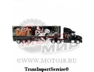 Модель грузовика GOT DIRT LONG HAULER TRГСK (черный с разводами) 1:32 (15-5169)