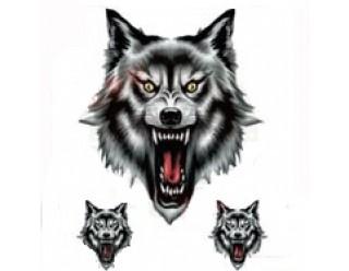 Наклейка рычащий волк