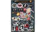 Набор наклеек инструменты  (стиль гараж) 37 шт (GPA 075) 5755
