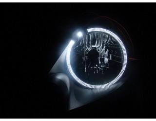 Ангельские глазки 120 мм белые мото (SMD-диоды, кольцо на фару, эффект аналог AUDI) в упаковке 2шт.