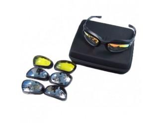 Очки OKEY BKT-6050 СПОРТ (в наборе +диоптр.оправа,линзы (4 цвета), чехол, коробочка модная, шнур)