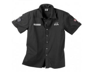 Рубашка AJS JACK SHIRT (с коротким рукавом в стиле тех. команды), черная