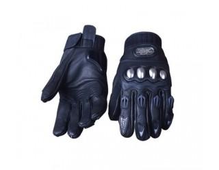 Перчатки PRO-Biker mcs-06 кожа (черные) вилка на пальце