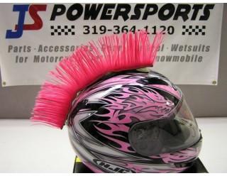 Ирокез (как у панков), на любой шлем HELMET MOHAWK PINK (розоватый, клёвый), на липучке (снимается)