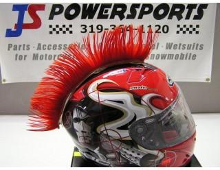 Ирокез (как у панков), на любой шлем HELMET MOHAWK RD (красный), на липучке (снимается)