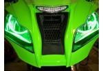 Ангельские глазки  120 мм зеленые мото (ССFL шнур, 2 кольца на фары, эффект аналог AUDI, VolksWagen)