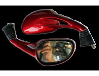 Зеркала (012) d10 каплевидные объемные красные (1038)