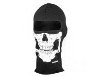 Маска NEODANNA SKULL (черная с черепом на нижней половине лица)