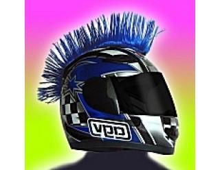 Ирокез (как у панков), на любой шлем HELMET MOHAWK BLU (синий), на липучке (снимается)