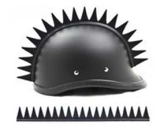 Ирокез (как у панков), на любой шлем HELMET BLADES SAW (зубья как у пилы), на липучке (снимается)