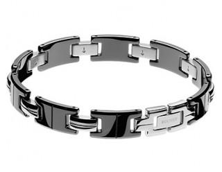 Браслет байкерский стальной (SMT0185) (с квадратными, полыми внутри звеньями, типа цепь)
