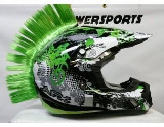 Ирокез (как у панков), на любой шлем HELMET MOHAWK GN (зеленый), на липучке (снимается)