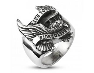 Кольцо байкера с орлом