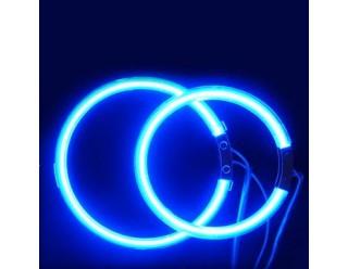 Ангельские глазки  120 мм синие мото (ССFL шнур, 2 кольца на фары, эффект аналог AUDI, VolksWagen)