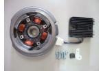 Комплект электрооб. 188F,190F 216 Вт (маховик, выпрямитель, катушка, зажим,болт12,болт35,шайба)