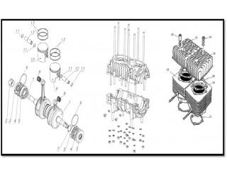 Блок двигателя (вал коленчатый, картер, поршни, цилиндры) (57)
