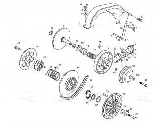Регулятор центробежный и шкив ведомый (63)