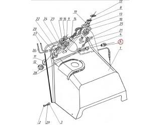 Направляющая троса стартера (пробка направляющая кожуха) (113.07.050.012)