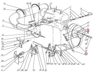 Амортизаторы двигателя верх+низ (113.04.010.015, 025)