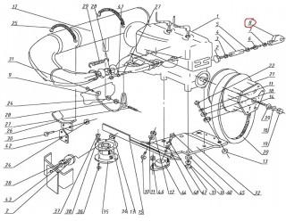 Кронштейн Рысь (113.00.020.045) (упор двигателя)