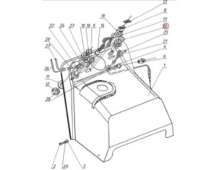 Насос впрыска (440.1110100) (устройство подкачивающее) Рысь Буран Тайга (НАБОР)