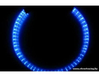 Ангельские глазки 120 мм синие мото (SMD-диоды, кольцо на фару, эффект аналог AUDI) в упаковке 2шт.